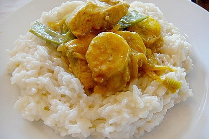 Rotes Bananen - Curry mit Pute 1