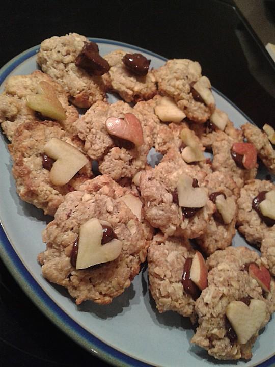 gesunde haferflocken cookies mit apfel rezepte suchen. Black Bedroom Furniture Sets. Home Design Ideas