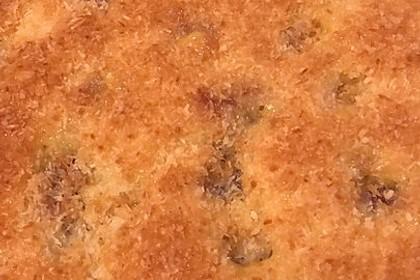 Buttermilch - Kokos - Kuchen mit Kirschen 7