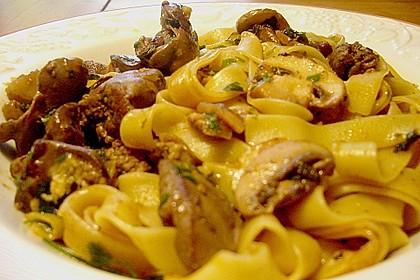 Geflügelleber - Ragout mit Pasta 5