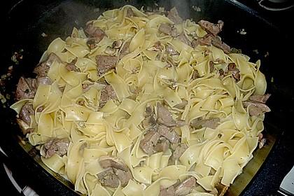 Geflügelleber - Ragout mit Pasta 3