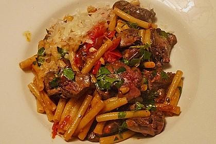 Geflügelleber - Ragout mit Pasta 2