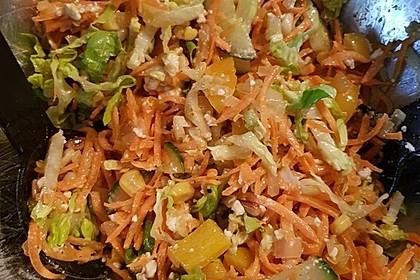 Salat mit putenstreifen honig senf dressing