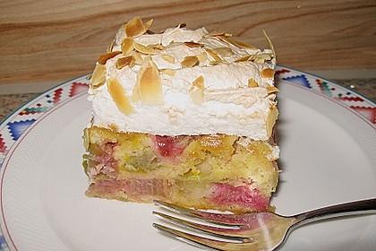 Rhabarber - Baiser - Kuchen 24