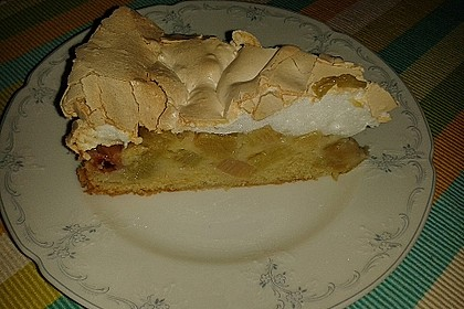 Rhabarber - Baiser - Kuchen 50