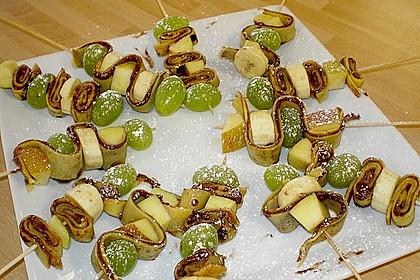 Crepe - Fruchtspieß