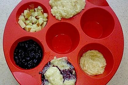 Schnelle vegane Apfel- oder Heidelbeermuffins 3
