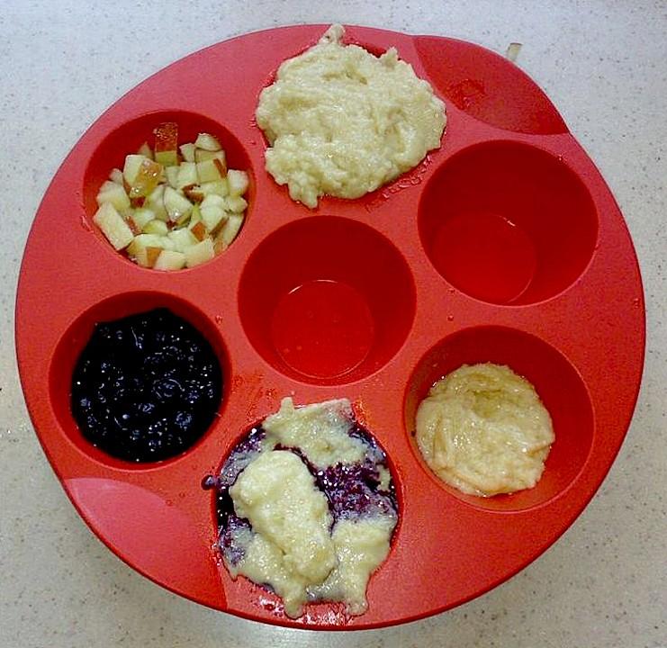 Schnelle vegane küche  Schnelle vegane Apfel- oder Heidelbeermuffins (Rezept mit Bild ...