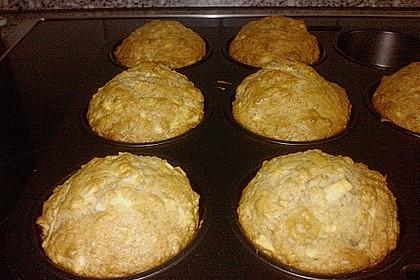 Schnelle vegane Apfel- oder Heidelbeermuffins 7