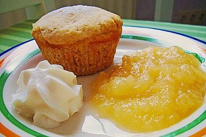 Schnelle vegane Apfel- oder Heidelbeermuffins 1