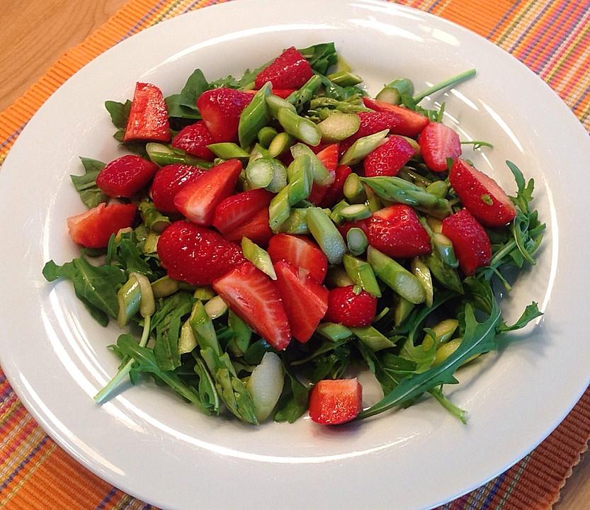 rucola spargel erdbeer salat rezept mit bild. Black Bedroom Furniture Sets. Home Design Ideas