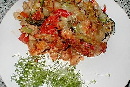 Nicoises pikanter Tomaten - Huhn - Auflauf
