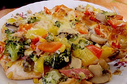 Pizzateig, kalorien- und fettarm 30