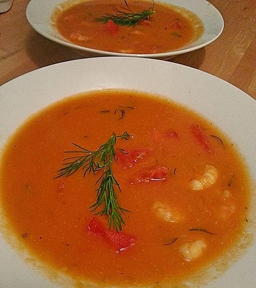 fenchel tomaten suppe mit garnelen rezept mit bild. Black Bedroom Furniture Sets. Home Design Ideas