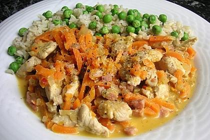 Geschnetzeltes Hühnerbrustfilet mit Boursin 1