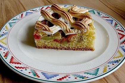 Rhabarberkuchen mit Baisergitter - vom Blech 1