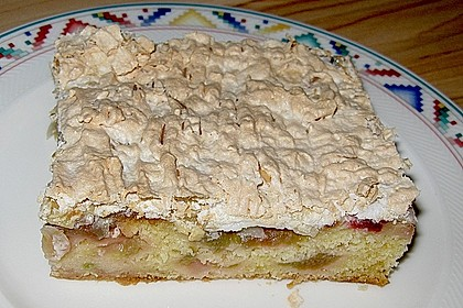 Rhabarberkuchen mit Baisergitter - vom Blech 7
