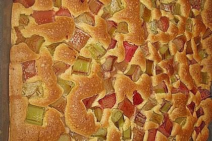 Rhabarberkuchen mit Baisergitter - vom Blech 12