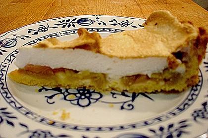 Rhabarberkuchen mit  Meringenguss (Baiserhaube) 3