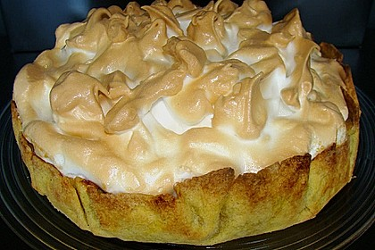 Rhabarberkuchen mit  Meringenguss (Baiserhaube) 2