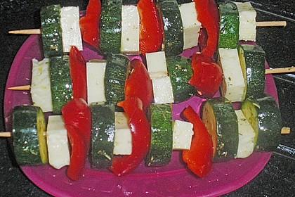 Zucchini - Spieße mit Käse und Paprika 2