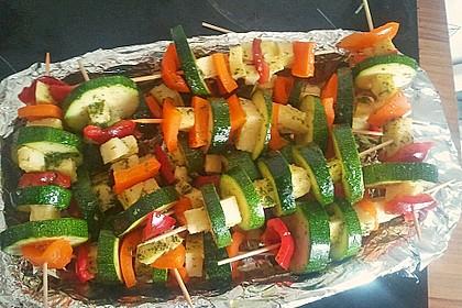 Zucchini - Spieße mit Käse und Paprika 1