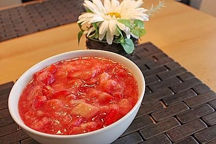 Eichkatzerls Erdbeer - Rhabarber - Kompott 8