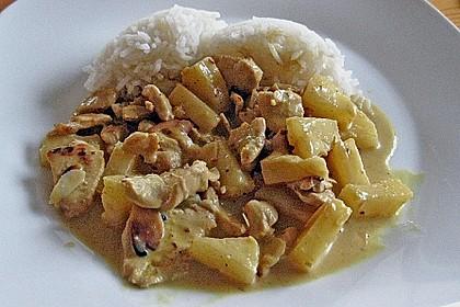 Hähnchen-Ananas-Curry mit Kokosmilch 20
