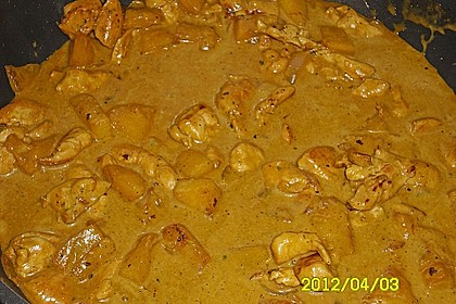 Hähnchen-Ananas-Curry mit Kokosmilch 31