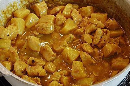 Hähnchen-Ananas-Curry mit Kokosmilch 26