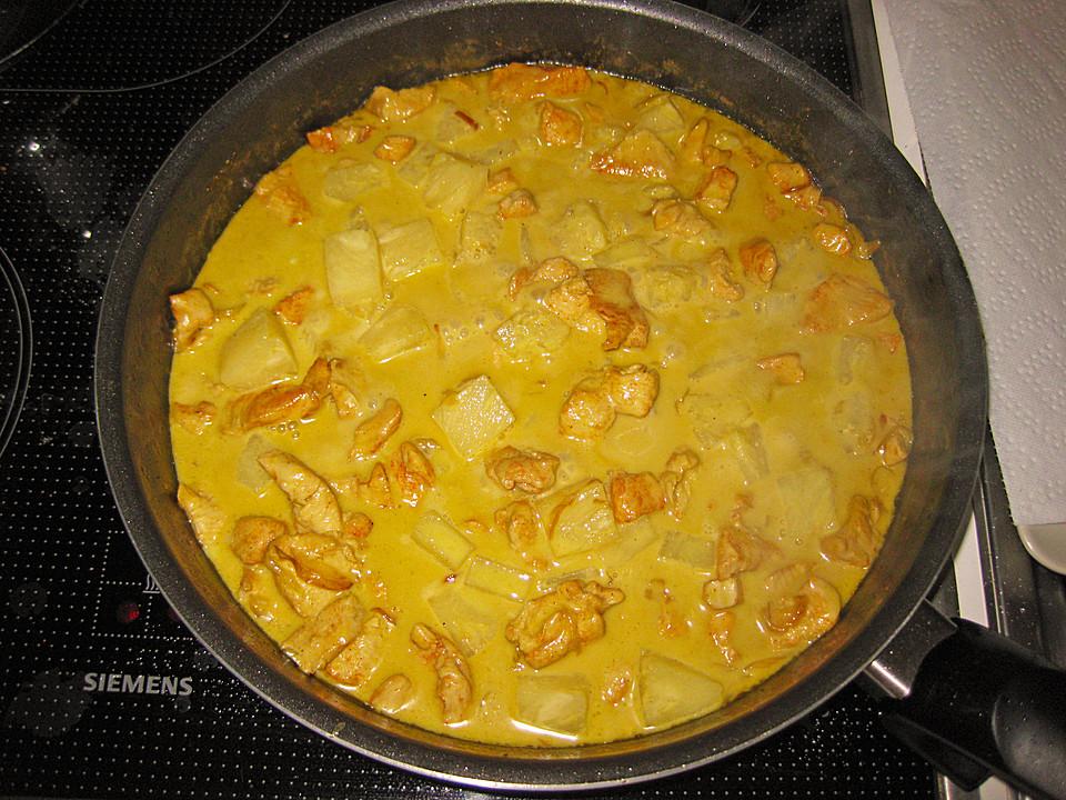 h hnchen ananas curry mit kokosmilch rezept mit bild. Black Bedroom Furniture Sets. Home Design Ideas