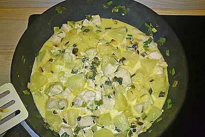 Hähnchen-Ananas-Curry mit Kokosmilch 47