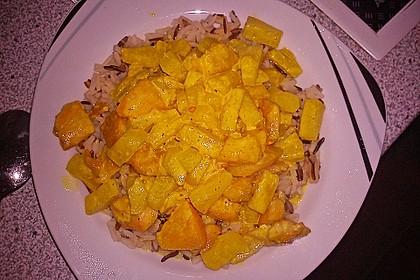 Hähnchen-Ananas-Curry mit Kokosmilch 22