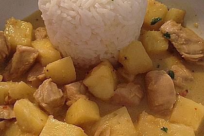 Hähnchen-Ananas-Curry mit Kokosmilch 43