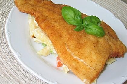 Backfischauflauf mit Béchamel-Käse-Sauce