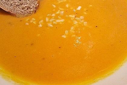 Karottensuppe mit Curry 9