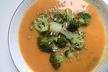 Karottensuppe mit Curry 10