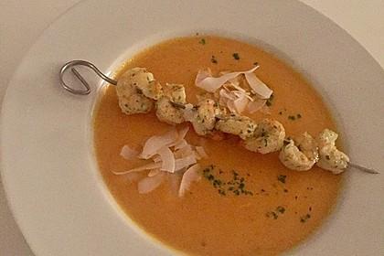 Karottensuppe mit Curry 4