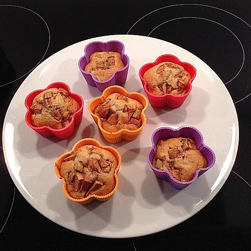 fett und kalorienarme apfel zimt muffins rezept mit bild. Black Bedroom Furniture Sets. Home Design Ideas