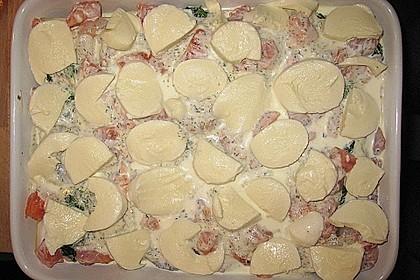 Lachslasagne mit Garnelen in Dillcreme 2