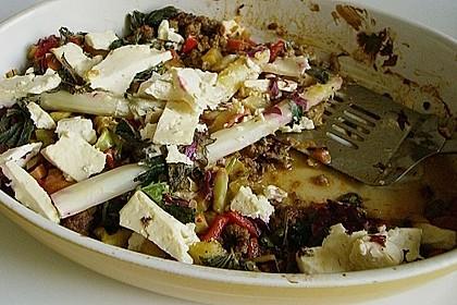 Spargel auf Kräuter- und Gemüsebett 2