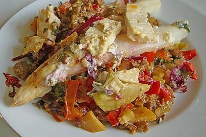 Spargel auf Kräuter- und Gemüsebett 1