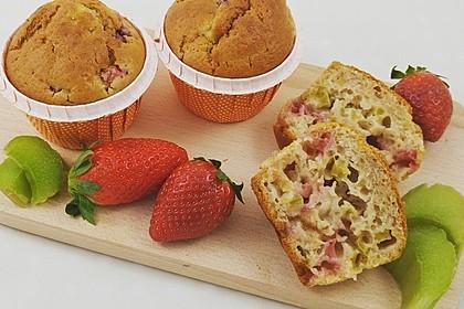 Erdbeer - Rhabarber - Muffins 1