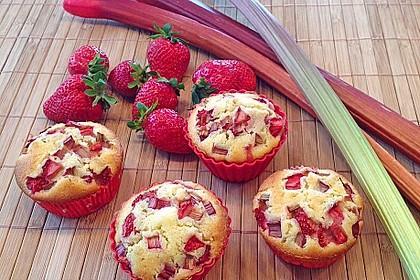 Erdbeer - Rhabarber - Muffins