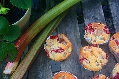 Erdbeer - Rhabarber - Muffins 6