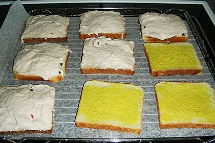 Scharfe Brotschnitten mit Brät 4