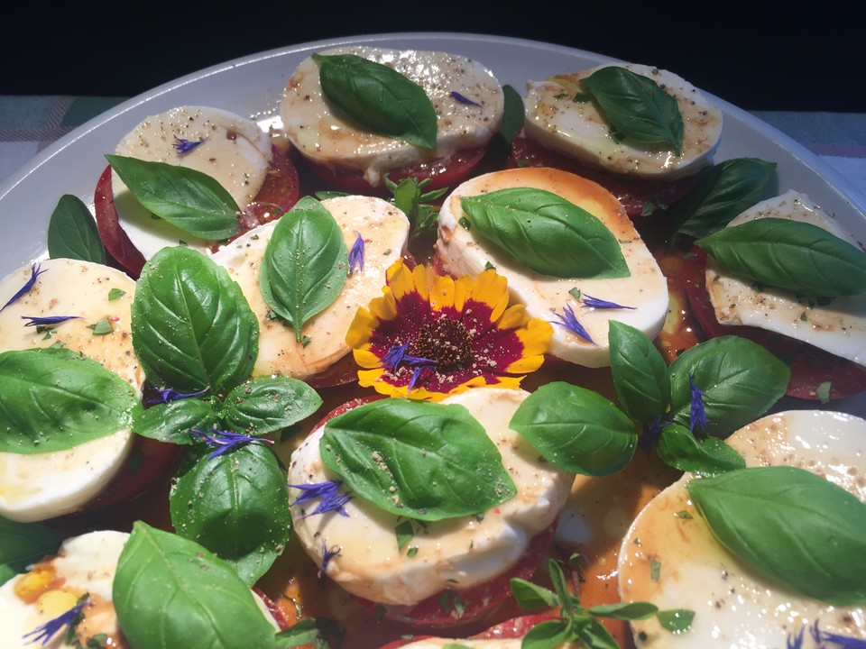 Tomate mozzarella salat dressing