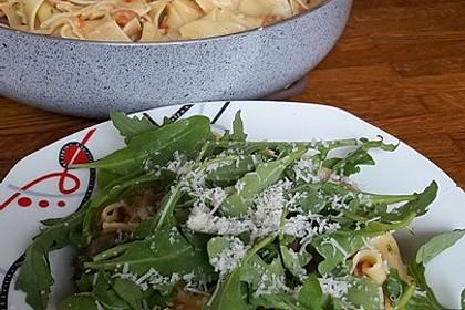 Schnelle Champignon - Tomaten - Rucola - Pfanne