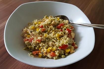 Gemüse - Reis - Pfanne mit Lachs