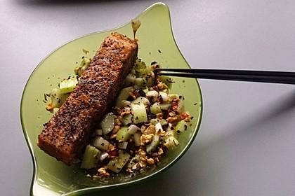 Thai Gurkensalat mit Erdnüssen und Chili 16